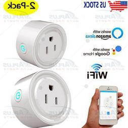 2PCS Wifi Smart Plug Remote Voice Control Socket Outlet Amaz